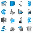 Vector business icons. — Stockvectorbeeld