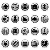Vector business and finance buttons. — Stock Vector
