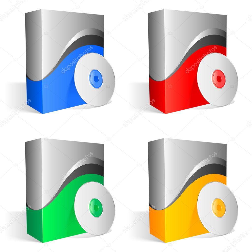 Cajas De Software Vector De Stock 1537239 Depositphotos