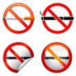 Royalty-Free Stock Vector Image: No smoking sign.