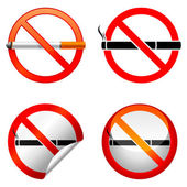 No smoking sign. — Stock Vector