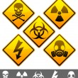 Royalty-Free Stock Imagen vectorial: Warning signs.