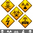 Stock Vector: Warning signs.