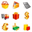 Shopping icons. — Stock vektor