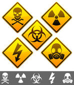 Warning signs. — Vettoriale Stock