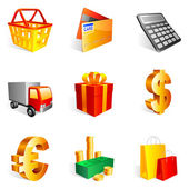 Shopping icons. — Vettoriale Stock