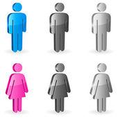 Gender symbols. — Stock Vector