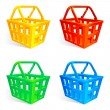 Shopping baskets. — Stock Vector