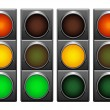 Stock Vector: Traffic lights.