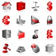 Royalty-Free Stock Vektorfiler: Vector business icons.
