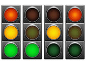 Traffic lights. — Vector de stock