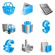 Shopping icons. - Image vectorielle