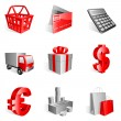 Shopping icons. — Vector de stock