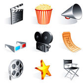 Movie icons. — Vettoriale Stock