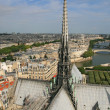 Cityscape of Paris and Seine — Stock Photo