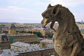 Monster on Notre Dame de Paris — Stock Photo
