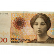 Norwegian 500 Krones Banknote - Stock Photo