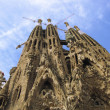 Stock Photo: SagradFamiliUnder Construction