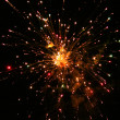 Fireworks In The Dark Sky - Stock Photo