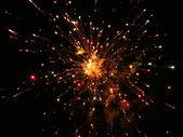 Fireworks In The Dark Sky — Stock Photo
