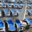 Sun beds — Stock Photo
