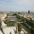 Cityscape of Paris and Seine - Stock Photo