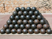 Cannon balls — Stock Photo