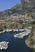 Harbor of Fontvieille in Monaco — Stock Photo