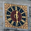 Clock On The Hamburg City Hall - Stock Photo