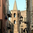 Streets of Alghero, Sardinia - Stock Photo