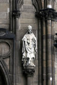 Statue On St. Nickolaus Church — Stock Photo