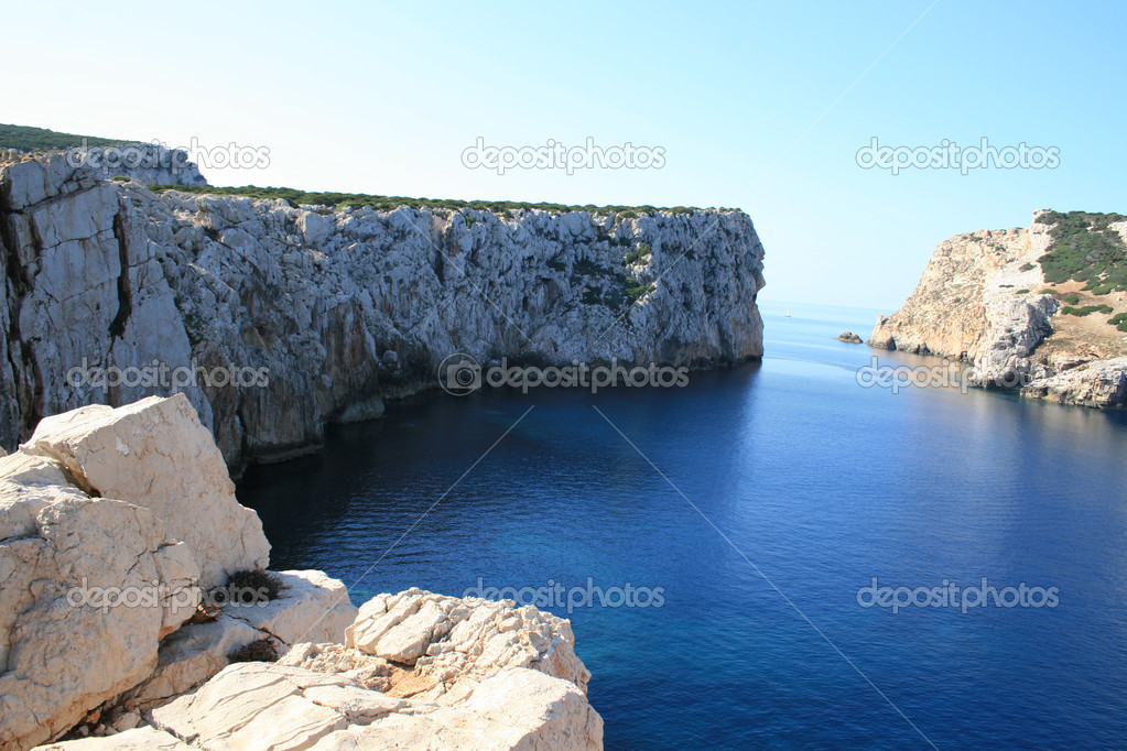 White rocks on north-west of Sardinia island Italy. — Stock Photo #1127790