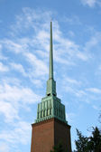 Spire Of Anglican Church In Helsinki — 图库照片