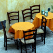 Stock Photo: Tables Of Street Cafe