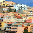 Colorful Houses Of Sardinian Town - Stock Photo