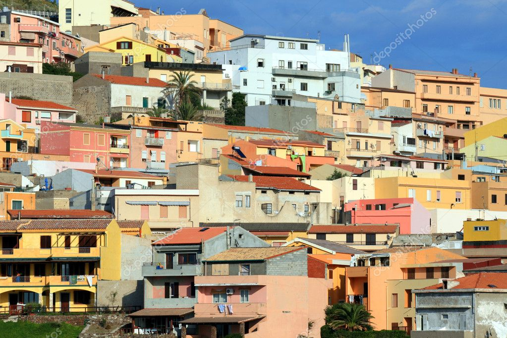 Colorful Houses Of Sardinian Town Stock Photo Alexander Lebedev #sardinia town