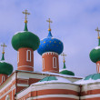 Roofs Of Russain Orthodox Church — Stock Photo