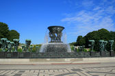 Fountain in Vigeland park — Stock Photo