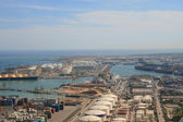 Aerial View To The Harbor — Stock Photo