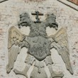 Double-headed Eagle on the wall — Stock Photo