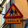 Road Sign Children Crossing — Stock Photo #1411103