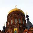 Red Brick Russian Church — Stock Photo