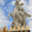 Equestrian statue in Paris — Stock Photo