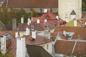 Roofs of Tallinn's old town — Stock Photo