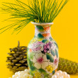 Stock Photo: Pines branch in vase