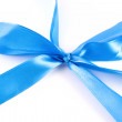 Royalty-Free Stock Photo: Blue ribbon with clipping path