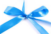 Blue ribbon with clipping path — Stock Photo