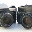 Old SLR cameras — Stock Photo