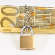 Locked euro — Stock Photo