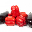 Royalty-Free Stock Photo: Aubergine & pepper